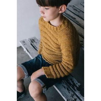 Basic-sweater i Snefnug 4-9 år