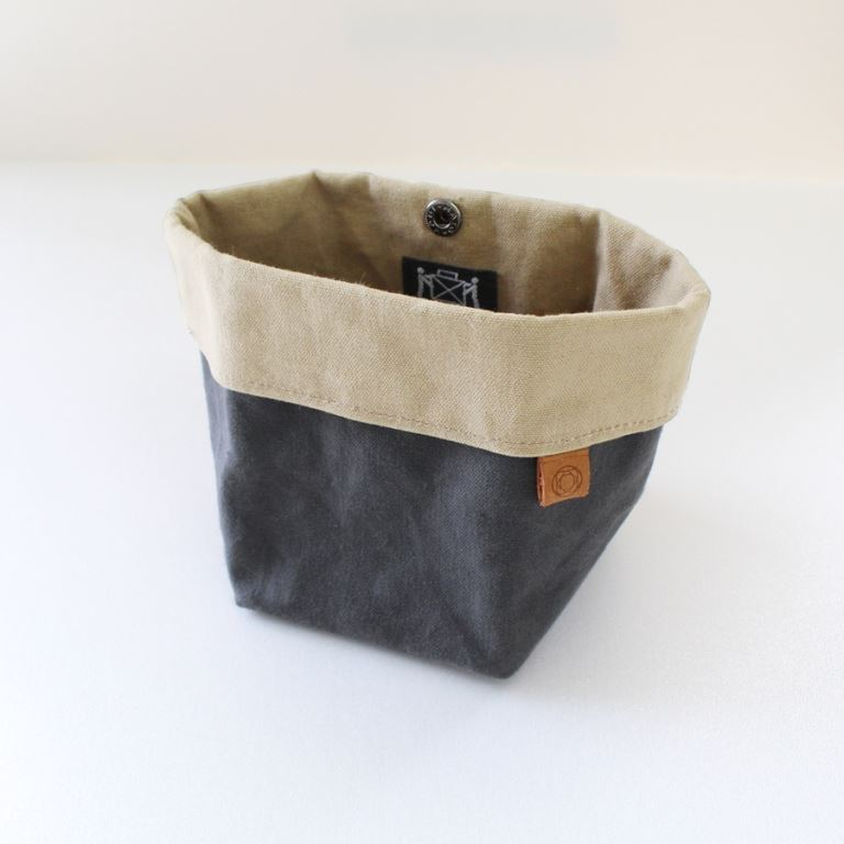Cohana - Waxed Canvas Accessory Pouch - Mørkegrå